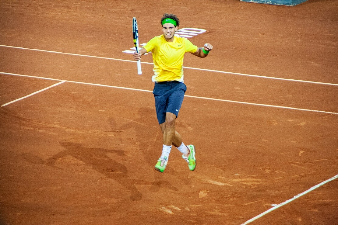 Rafael Nadal jubelt.