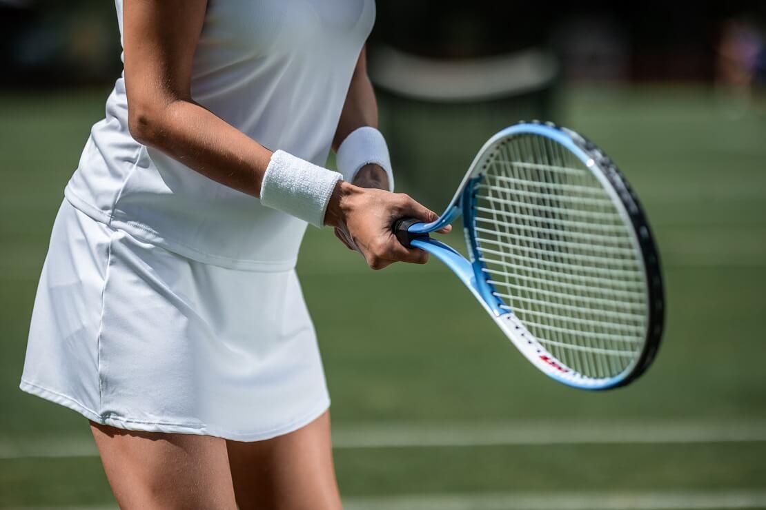 Eine Tennisspielerin
